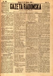Gazeta Radomska, 1889, R. 6, nr 103