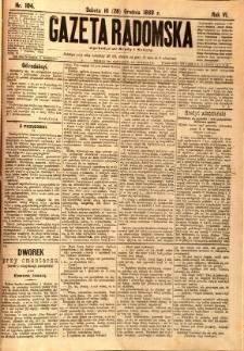 Gazeta Radomska, 1889, R. 6, nr 104