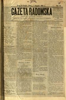 Gazeta Radomska, 1890, R. 7, nr 1