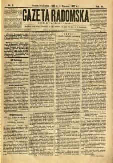 Gazeta Radomska, 1890, R. 7, nr 2
