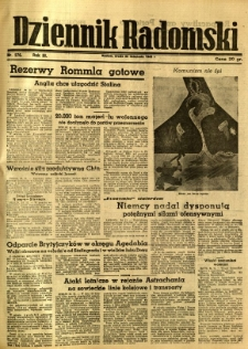 Dziennik Radomski, 1942, R. 3, nr 276