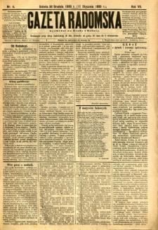 Gazeta Radomska, 1890, R. 7, nr 4
