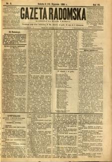 Gazeta Radomska, 1890, R. 7, nr 6