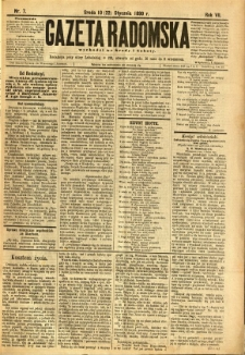 Gazeta Radomska, 1890, R. 7, nr 7