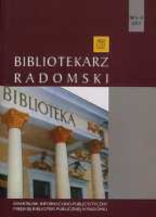 Bibliotekarz Radomski, 2013, R. 21, nr 3-4