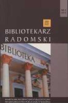 Bibliotekarz Radomski, 2012, R. 20, nr 3