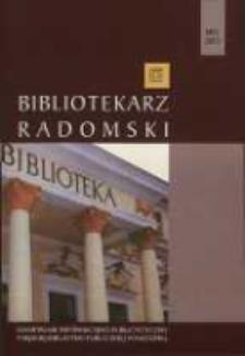 Bibliotekarz Radomski, 2013, R. 21, nr 2