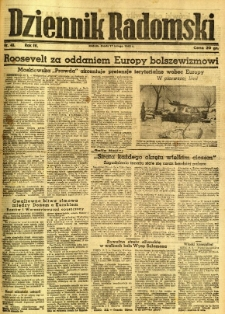 Dziennik Radomski, 1943, R. 4, nr 40
