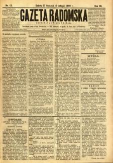 Gazeta Radomska, 1890, R. 7, nr 12