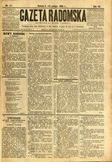 Gazeta Radomska, 1890, R. 7, nr 14