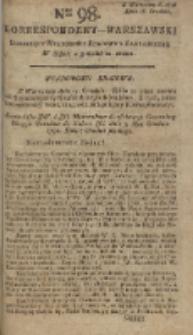 Korrespondent Warszawski, 1792, nr 98