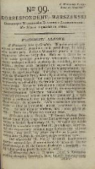 Korrespondent Warszawski, 1792, nr 99