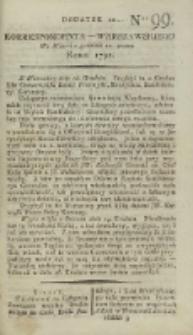 Korrespondent Warszawski, 1792, nr 99, dod