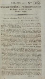 Korrespondent Warszawski, 1792, nr 102, dod