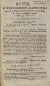 Korrespondent Warszawski, 1792, nr 104