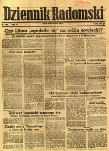 Dziennik Radomski, 1943, R. 4, nr 116