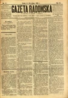 Gazeta Radomska, 1890, R. 7, nr 17