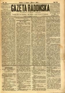 Gazeta Radomska, 1890, R. 7, nr 18