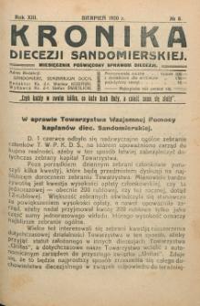 Kronika Diecezji Sandomierskiej, 1920, R. 13, nr 8