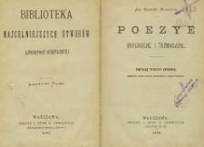 Poezye oryginalne i tłomaczone