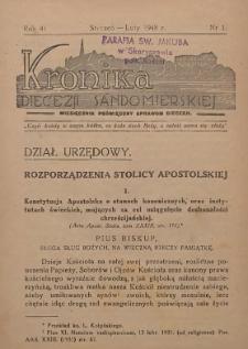 Kronika Diecezji Sandomierskiej, 1948, R. 41, nr 1