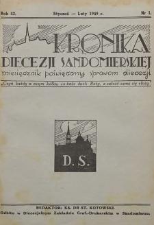 Kronika Diecezji Sandomierskiej, 1949, R. 42, nr 1