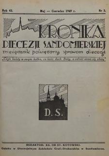 Kronika Diecezji Sandomierskiej, 1949, R. 42, nr 3