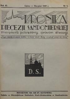 Kronika Diecezji Sandomierskiej, 1949, R. 42, nr 4