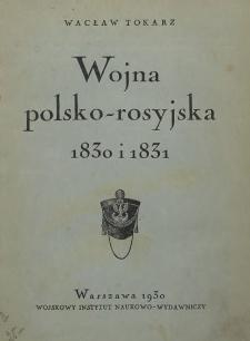 Wojna polsko-rosyjska 1830 i 1831 r.
