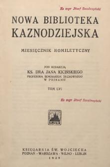 Nowa Biblioteka Kaznodziejska : miesięcznik homiletyczny, 1939, T. 56
