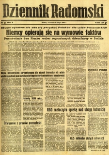 Dziennik Radomski, 1944, R. 5, nr 33
