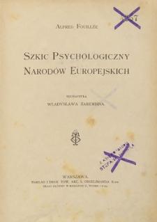 Szkic psychologiczny narodów europejskich