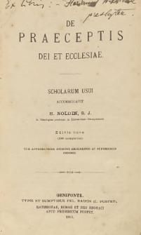 De praeceptis Dei et ecclesiae : scholarum usui