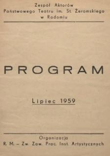 Program : Lipiec 1959