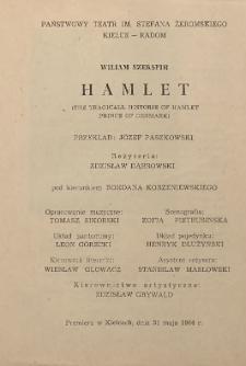 "Wiliam Szekspir ""Hamlet ; the tragical historie of Hamlet prince of Denmark"""