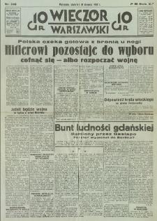 Wieczór Warszawski, 1939, R. 11, nr 246