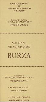 """William Shakespeare """"Burza"""" / Teatr Powszechny im. Jana Kochanowskiego w Radomiu"""
