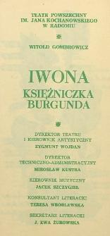 """Witold Gombrowicz """"Iwona Księżniczka Burgundai"""" / Teatr Powszechny im. Jana Kochanowskiego w Radomiu"""