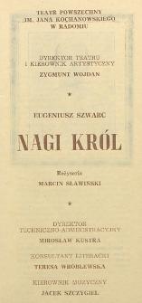 """Eugeniusz Szwarc """"Nagi król"""" / Teatr Powszechny im. Jana Kochanowskiego w Radomiu"""