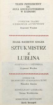 """Isaak Bashevis Singer """"Sztukmistrz z Lublina"""" / Teatr Powszechny im. Jana Kochanowskiego w Radomiu"""