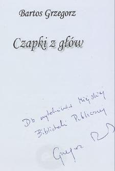 Grzegorz Bartos - autograf