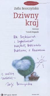 Zofia Beszczyńska - autograf