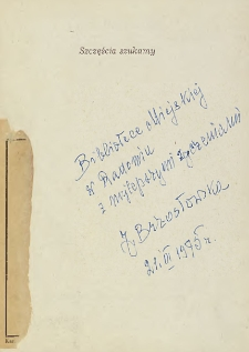 Janina Brzostowska - autograf