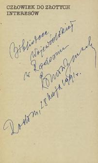 Roman Buczek - autograf
