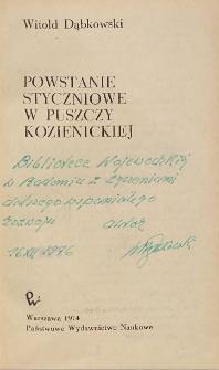 Witold Dąbkowski - autograf