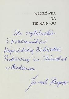 Jacek Drogosz - autograf