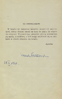 Wanda Falkowska - autograf