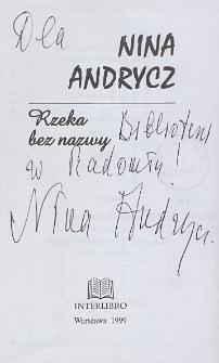 Nina Andrycz - autograf