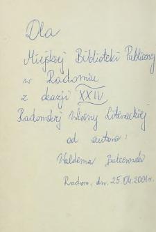 Waldemar Balcerowski - autograf