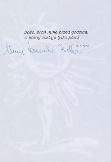Maria Danuta Betto - autograf